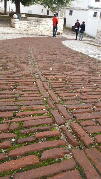 Old style brick street