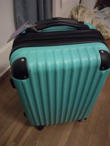 "My 20"" rolling suitcase"